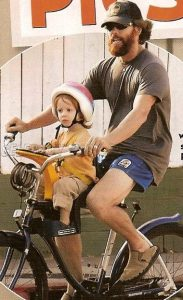 WeeRide Australia Juliet Robert's kid with hubby
