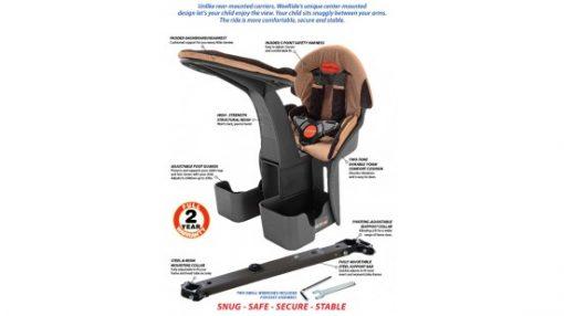 WeeRide Australia Bike Seat Deluxe Features