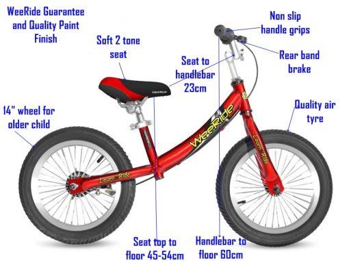 WeeRide Australia Deluxe Balance Bike Specifications