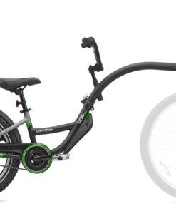 Black tag-along bike